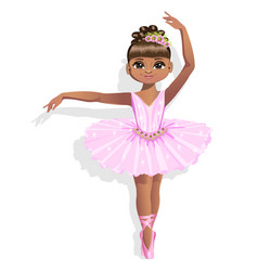 cute ballerina in a pink tutu vector image