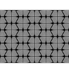 Design seamless monochrome checked hexagon pattern vector
