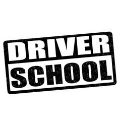 Driving school stamp vector