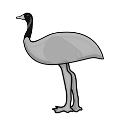 Emu icon in monochrome style isolated on white vector