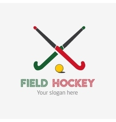 Field hockey team logo sport club badge vector