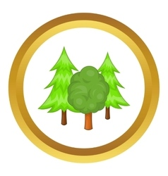 Forest trees icon vector image