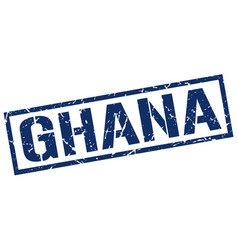 Ghana blue square stamp vector