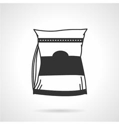 Glutamine supplements black icon vector image