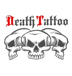 Group of skulls for death tattoo vector image vector image
