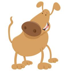 Happy dog cartoon character vector