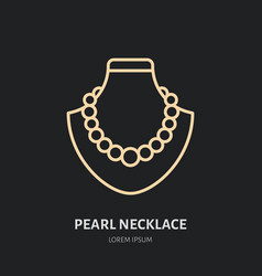 Pearl necklaces on dummy jewelry vector