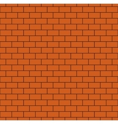 Russet brick wall seamless pattern vector