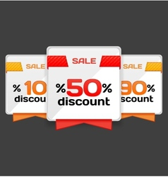 Sale or discount tag vector
