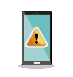 Smartphone warning symbol icon desig vector