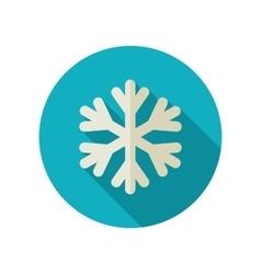 Snowflake Snow flat icon Meteorology Weather vector image
