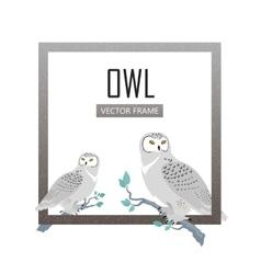 Snowy Owls Flat Design vector image vector image