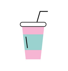 Soda plastic cup icon vector