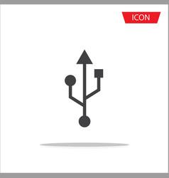 usb icon usb symbols vector image