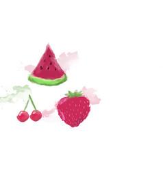 Watercolor fruit vector