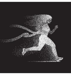 Winner Running Woman vector image