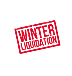 Winter liquidation rubber stamp vector