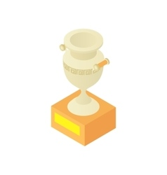Museum antique vase icon cartoon style vector