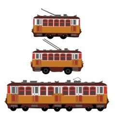 Vintage tram electric train trolleybus Retro vector image