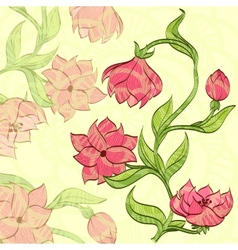 Background with handdrawn flower vector