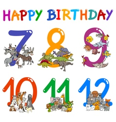 Birthday greeting cards design vector