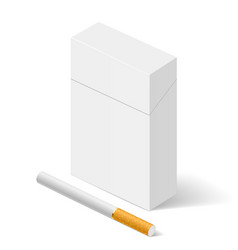 Closed full pack of cigarettes on white vector