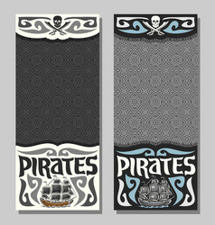 Banners for pirate theme vector