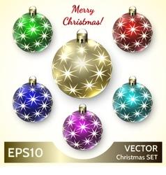 Set of Christmas Decoration Balls vector image