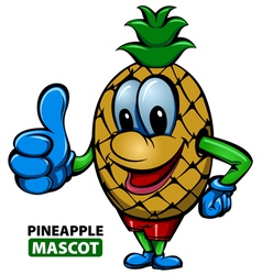 Pineapple mascot vector