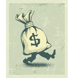 Full sack of money sign vector