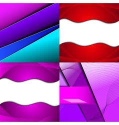 Set of bright abstract backgrounds design eps 10 vector