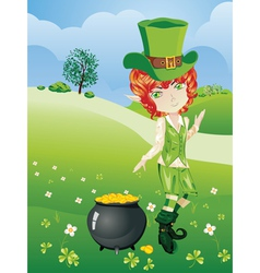 Leprechaun boy vector