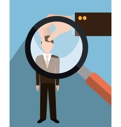 Find person and job interview vector