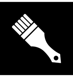 The paint brush icon painting and renovation vector