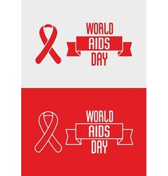 1st december world aids day concept with ribbon vector