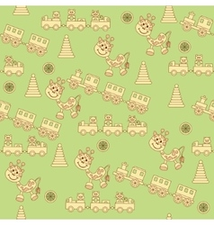 Seamless pattern of toys1 vector