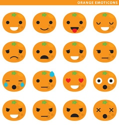 Orange emoticons vector