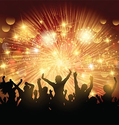 party crowd background 0902 vector image