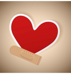 Plaster and heart vector