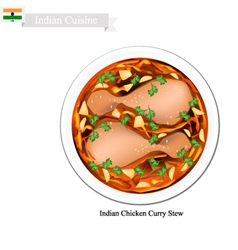 Indian chicken curry a famous dish in india vector