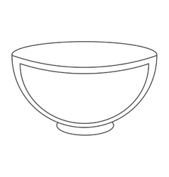 White ceramic bowl icon vector
