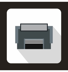 Concrete garage icon flat style vector