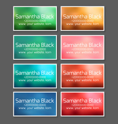 a set of templates for business cards coupons and vector image