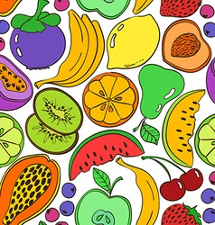 Abstract colorful fruit seamless pattern vector