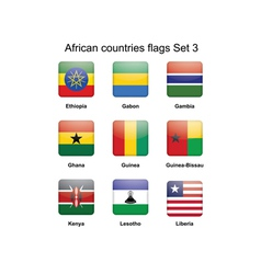 African flags set 3 vector image