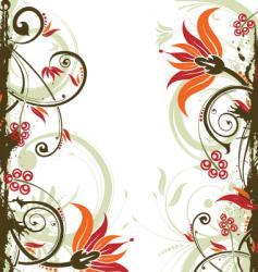 Background flower vector
