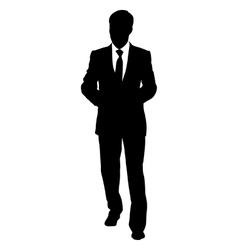 Black silhouettes of beautiful mans on white vector image