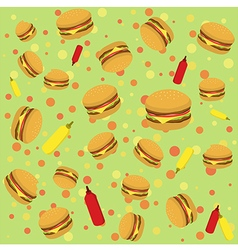 Burger Seamless Pattern vector image