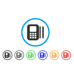Card reader rounded icon vector