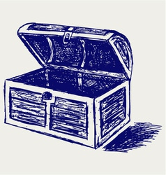 Chest sketch vector image